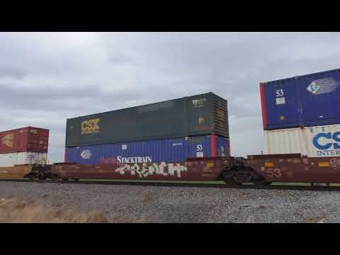 UP Golden State Route:  Tucson Z-intermodal with trashy power  04/08/2018 # 4