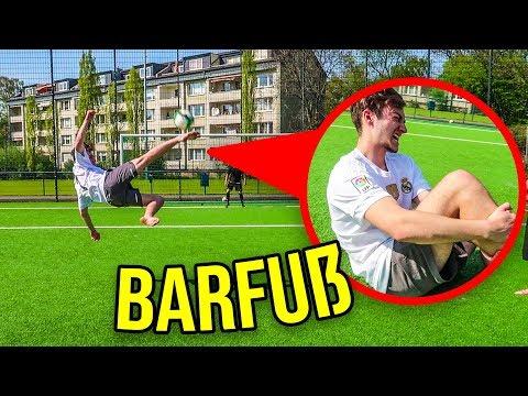 EXTREME BARFUß FUßBALL CHALLENGE!!!