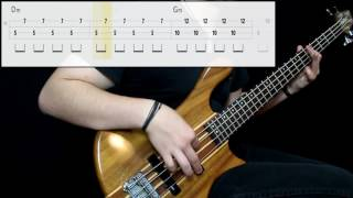 Muse - Uprising (Bass Cover) (Play Along Tabs In Video)