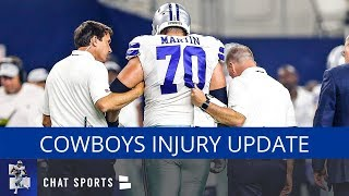 Cowboys Injury Update: Latest On Zack Martin, Xavier Woods, Jameill Showers & Bo Scarbrough