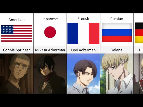 Attack On Titan Characters Nationalities