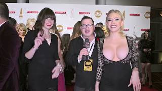Jordan Kennedy and Kagney Linn Karter at the XBiz Awards