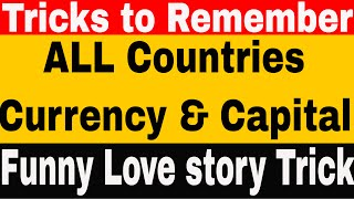 Currency - Country Trick to learn currencies Capitals of All 196 countries | No one Found Yet