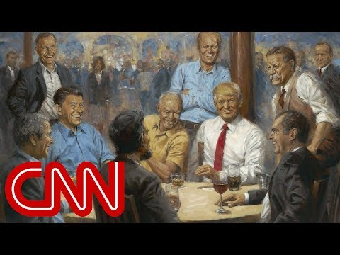 Artist's hidden message in Trump painting