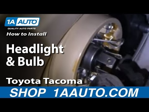 How To Install Replace Headlight and Bulb Toyota Tacoma 0104 1AAuto.com