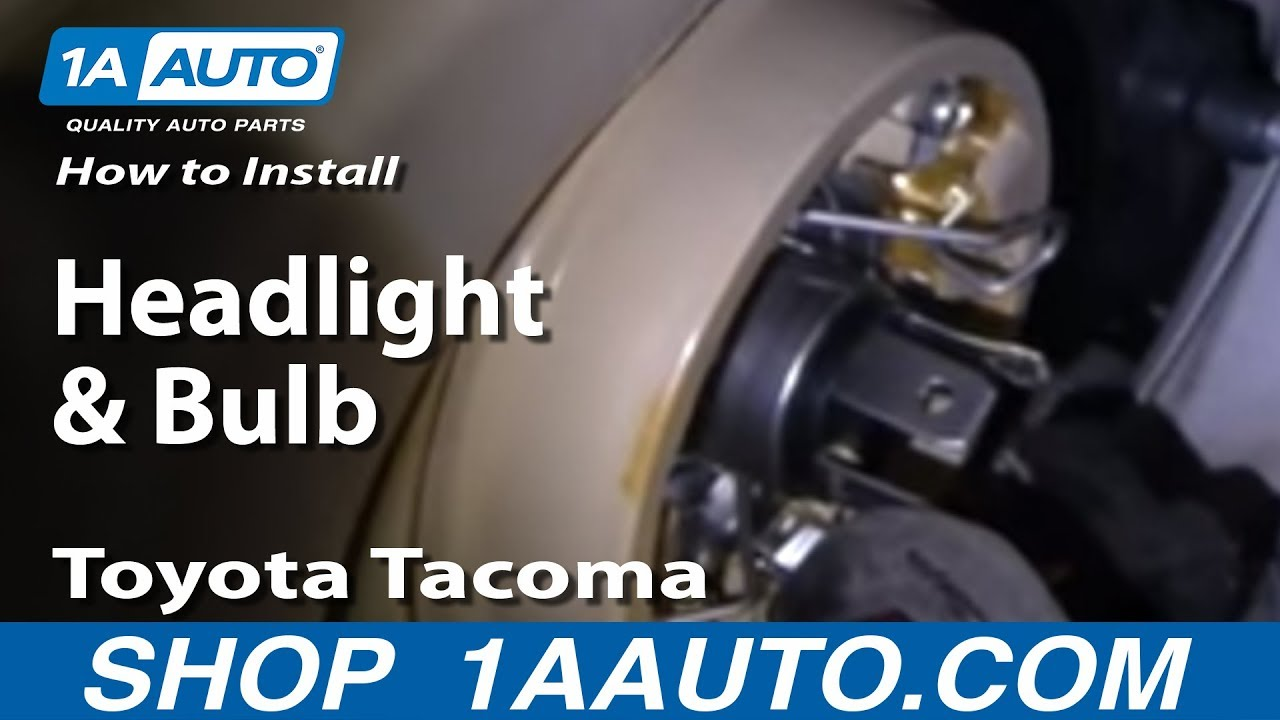 How To Install Replace Headlight and Bulb Toyota Tacoma 01-04 1AAuto ...