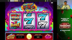 Triple Red Hot 777 slot machine w/ Free Spins BONUS LIVE [Online Gambling with Jersey Joe # 29]