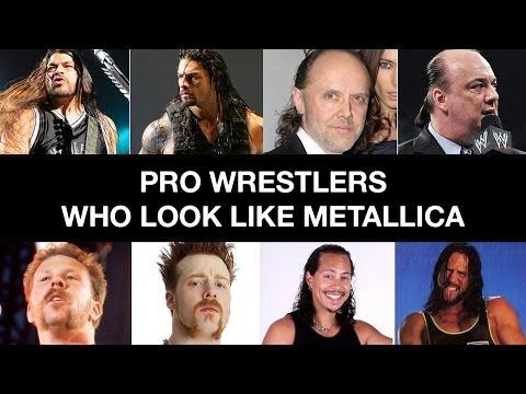Pro Wrestlers Who Look Like Metallica