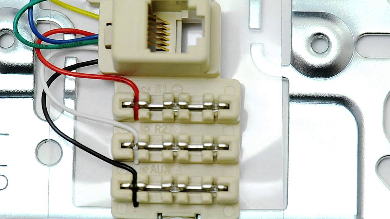 icc rj12 6 conductor wall plate 1 port stainless steel rh youtube com rj12 plug wiring diagram RJ12 Wiring Standard