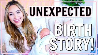 UNEXPECTED LABOR AND DELIVERY STORY! | BIRTH STORY | FIRST TIME MOM | Alexandra Beuter