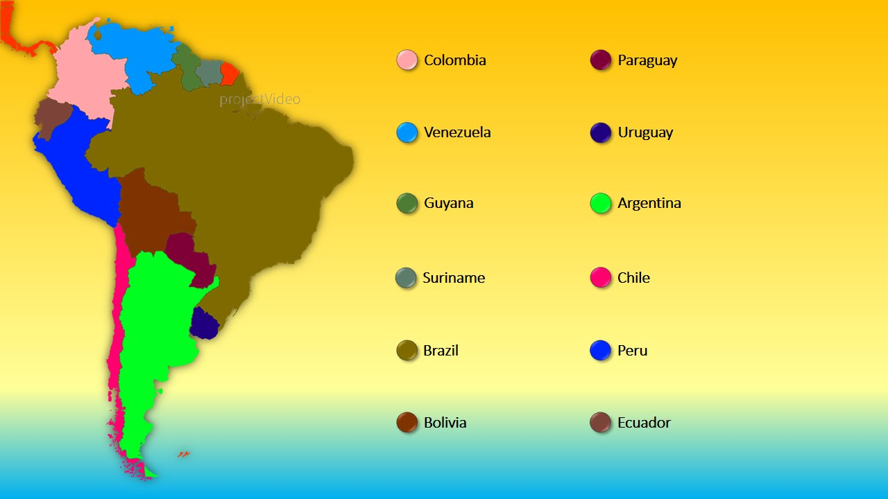 World Series Countries Of South America YouTube - Maps of south america with capitals and countries