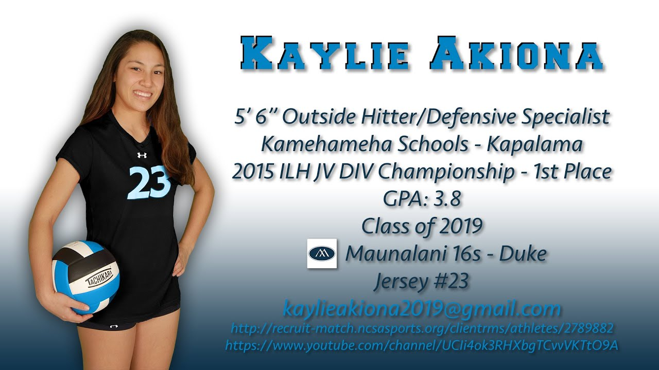 Kaylie Akiona Oh Ds 2016 Club Volleyball Early Season Highlights Youtube