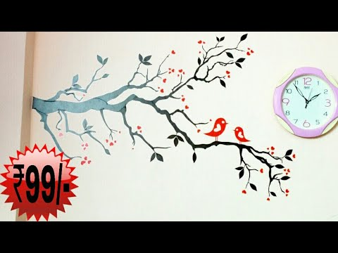 06805572e 99 rupees wall stickers from flipkart !!!!! - YouTube