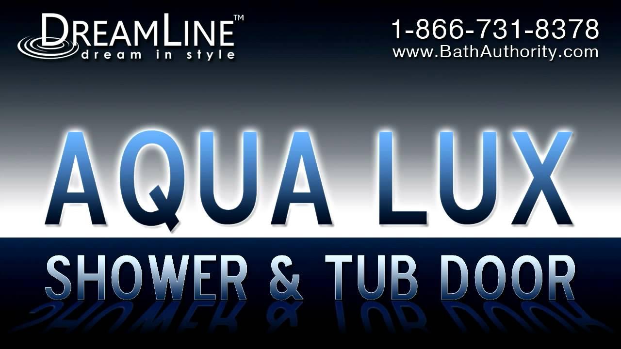 AquaLux shower door, Aqua Uno tub door, Aqua shower door, DreamLine ...