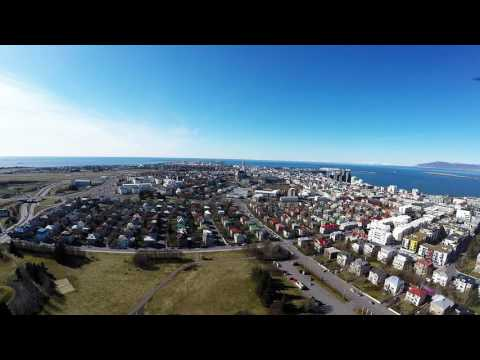 ICELAND REYKJAVIK . Flight of the drone. Islandia z drona. Typhoon q 500