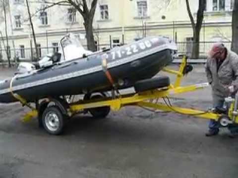 Прицеп для перевозки лодки ПВХ.Самодельный. - YouTube