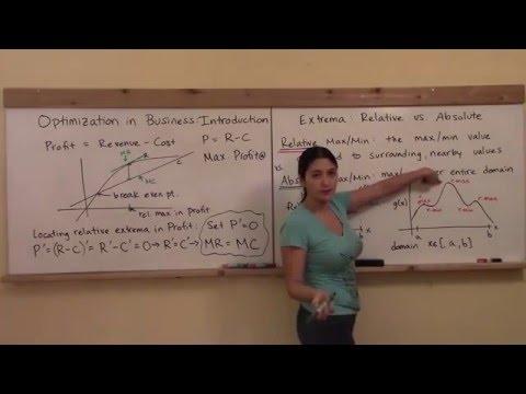 Math 148 W7: Introduction to Optimization