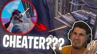 Fortnite Player glitches into a rock and fights me...