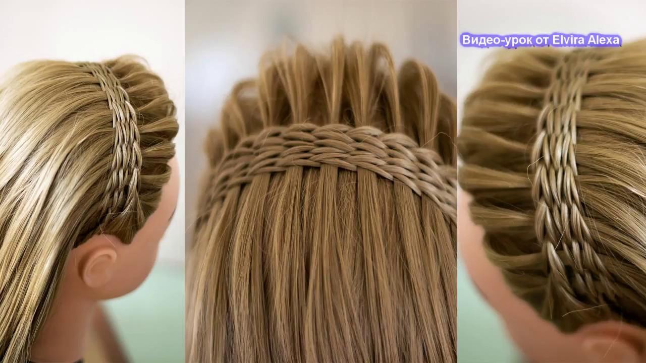 Ободок из кос  Летняя причёска Hair tutorial Peinado de trenzas braid