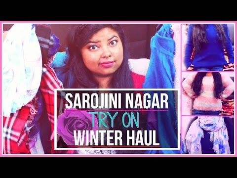 SAROJINI NAGAR MARKET WINTER TRY ON HAUL | Indian Youtuber
