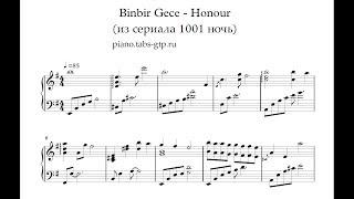 Binbir Gece - Honour (из сериала 1001 ночь) - Ноты для Фортепиано