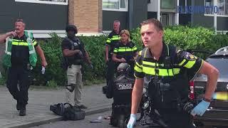 Arrestatieteam schiet verdachte neer na bedreiging, politiehond overleden Schiedam