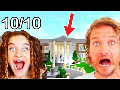 BUILDING OUR DAD'S DREAM HOUSE *DAD JUDGES* (Winner gets Robux) Challenge By The Norris Nuts