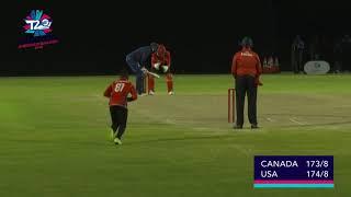 USA v Canada final over, 22 runs to win!