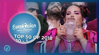 TOP 50: Most watched in 2018: 10 TO 1 - Eurovision Song Contest