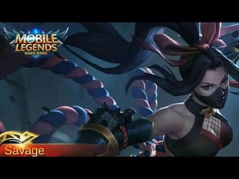 HANABI SAVAGE FULL GAMEPLAY   MOBILE LEGENDS