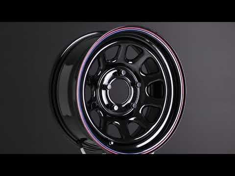American Racing Gloss Black With Stripes AR767 Wheel