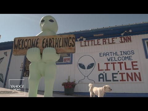'It's happening': Alien-enthusiasts descend on Area 51 for a UFO party
