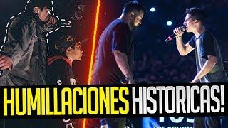 RIMAS que dieron lugar a HUMILLACIONES HISTÓRICAS | Batallas de Rap