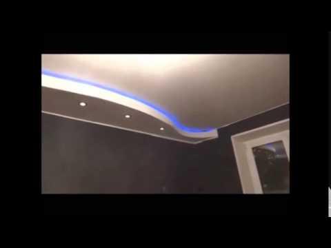 decoration faux plafond placo ba13) avec lumineuse led - alger - algerie