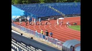 Чемпионат Харьковской области по легкой атлетике 96-97гг. 100 м ФИНАЛ 11-12 мая 2013г