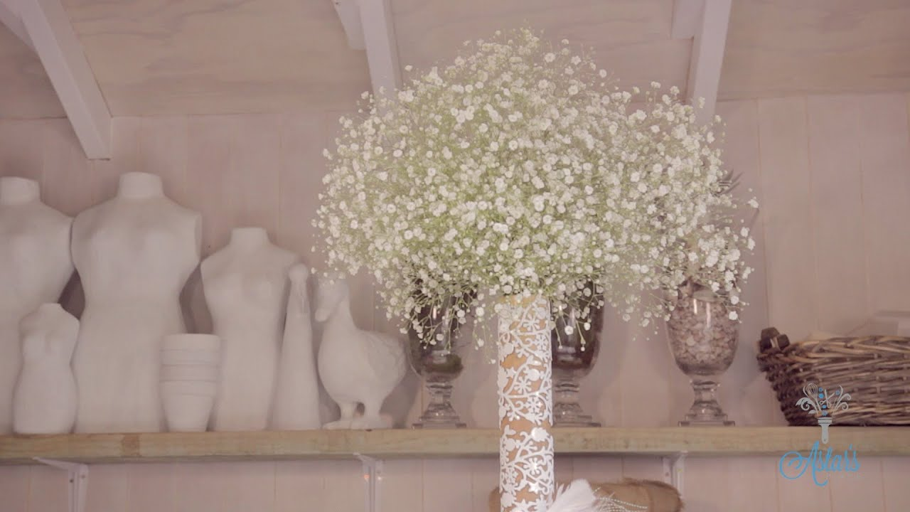 Arranging With Gypsophila Floristry Tutorial Youtube