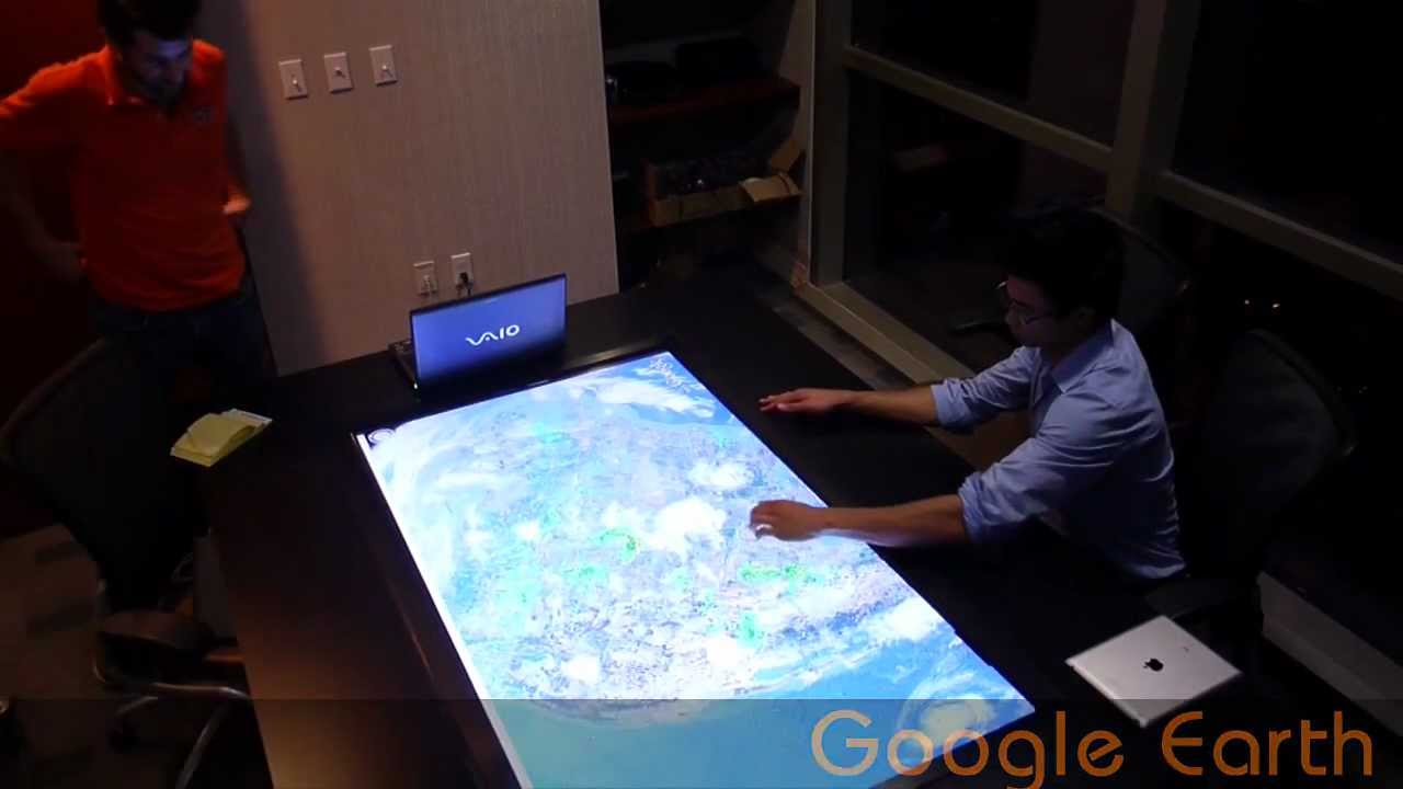 crunchy logistics large multi touch conference table