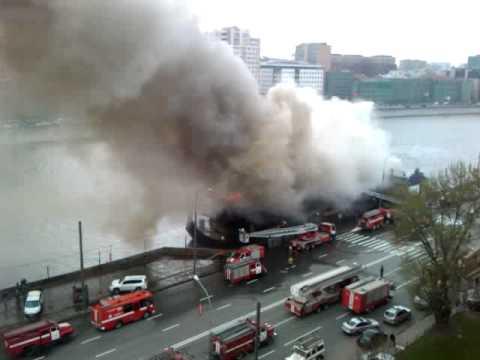 пожар в ресторане викинг - Fire In Moscow Club Viking