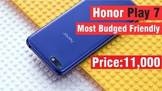 Honor Play 7 With 24MP Camera at 11000 Only in Pakistan