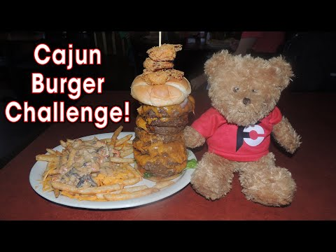 Cajun Cannon Burger Challenge in New Orleans!!
