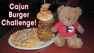 Cajun Cannon Burger Challenge @ Bobby Hebert's (New Orleans)!!