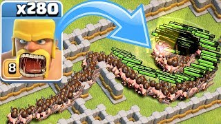 "HOW MANY TROOPS CAN FIT IN THE TORNADO!?! ""Clash Of Clans"" TROLL MAZE!!"