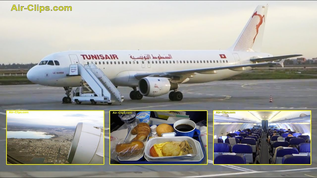 Tunisair Airbus A320 Business Tunis to Cairo across Libyan Coast!!!  [AirClips full flight series]