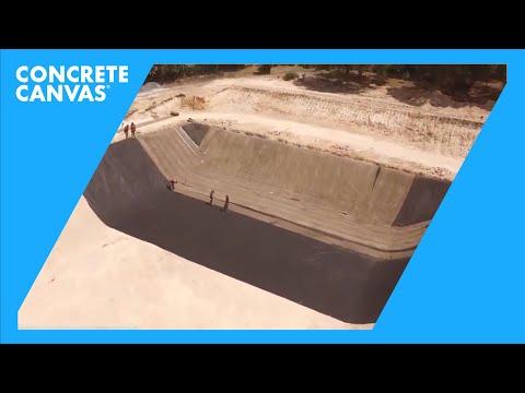 Concrete Canvas (CC) Lagoon Lining - Coahuila, Mexico