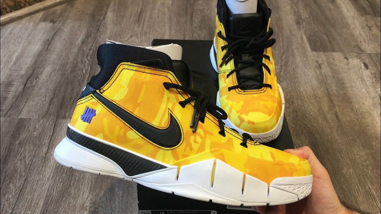 Nike Kobe 1 Protro PE Yellow Camo Undefeated La Brea Lakers Exclusive  Unboxing (First On YouTube!!!) 9875994640