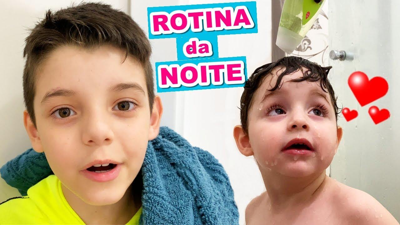 ROTINA da NOITE EM FAMÍLIA (100% Real) Piero Start