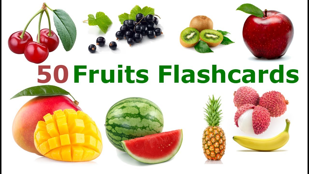 Learn Fruits Flashcards For Kids  Youtube