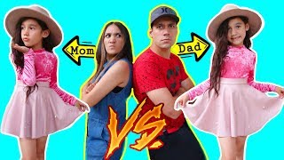 RATE MY OUTFITS!! MOM VS DAD * Who Dress Me Better * | Jancy Family