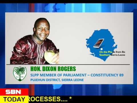 SIERRA LEONEAN PARLIAMENTARY REPRESENTATIVE FOR CONSTITUENCY 89 ON SHERIX BROADCAST NETWORK