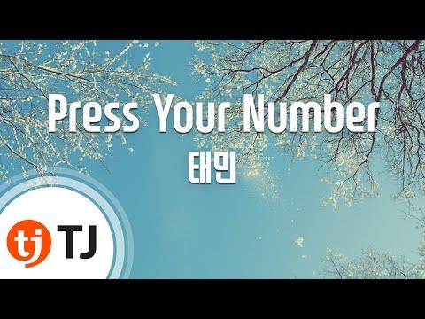 [TJ노래방] Press Your Number - 태민(샤이니)(Taemin) / TJ Karaoke